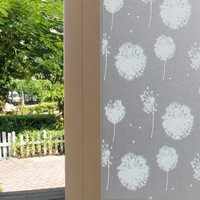 2D Dandelion Window Film Decor WC Kitchen Bedroom Living Room Bathroom Glass Decal No Glue Static