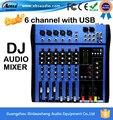 CT-60S/USB профессиональный dj микшер усилитель mixer 6 channel audio mixer караоке смеситель КТВ реверберации mesa микшерный пульт dj