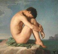 100% handcraftsart репроцентр живопись обнажённый голый мужчина гей вилочная часть искусство 24х'36inch
