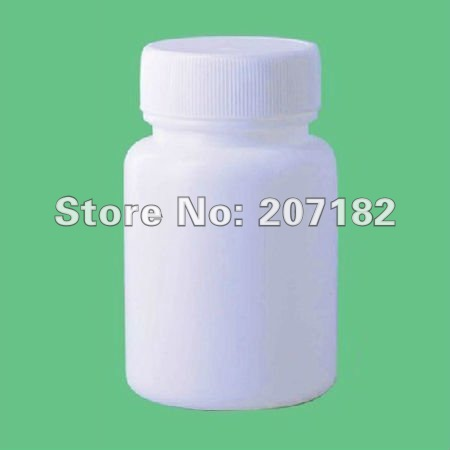 200 компл./лот) 60 мл круглый белый пластиковые бутылки PE, лекарством, бутылка порошка