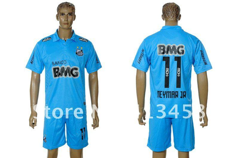 0a73f19eb 2012 2013 Season Santos FC  11 Neymar home white football jerseys ...