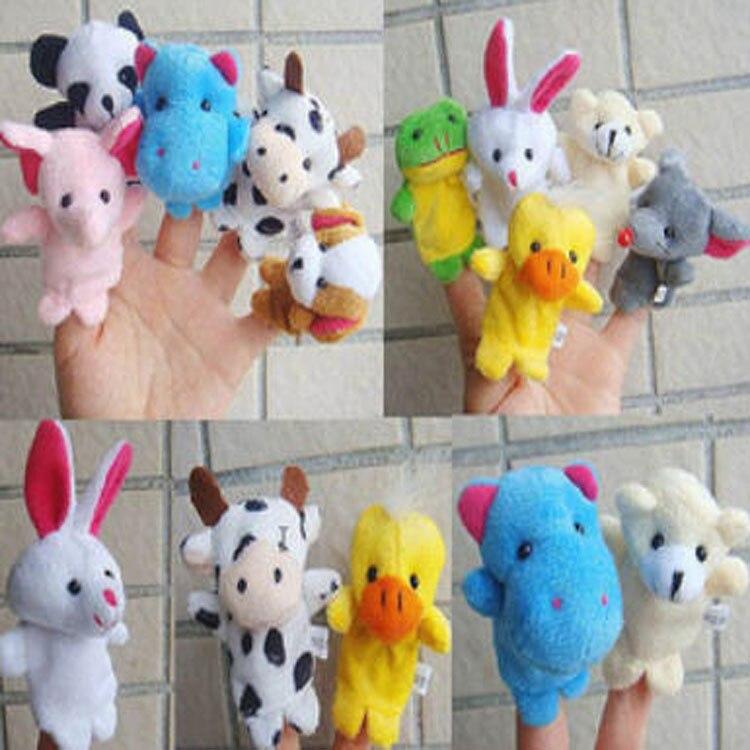 100 шт/партия,, детские плюшевые игрушки, пальчиковые куклы, животные-марионетки на пальцы, t