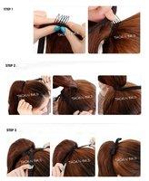 новинка уникальный горячая распродажа один частей с вьющиеся / / Mile дамы в хвост наращивание волос