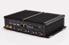 Промышленный компьютер QOTOM I37C4 Celeron 1037U, подходит для домашнего кинотеатра, htpc mini pc с портом rs232