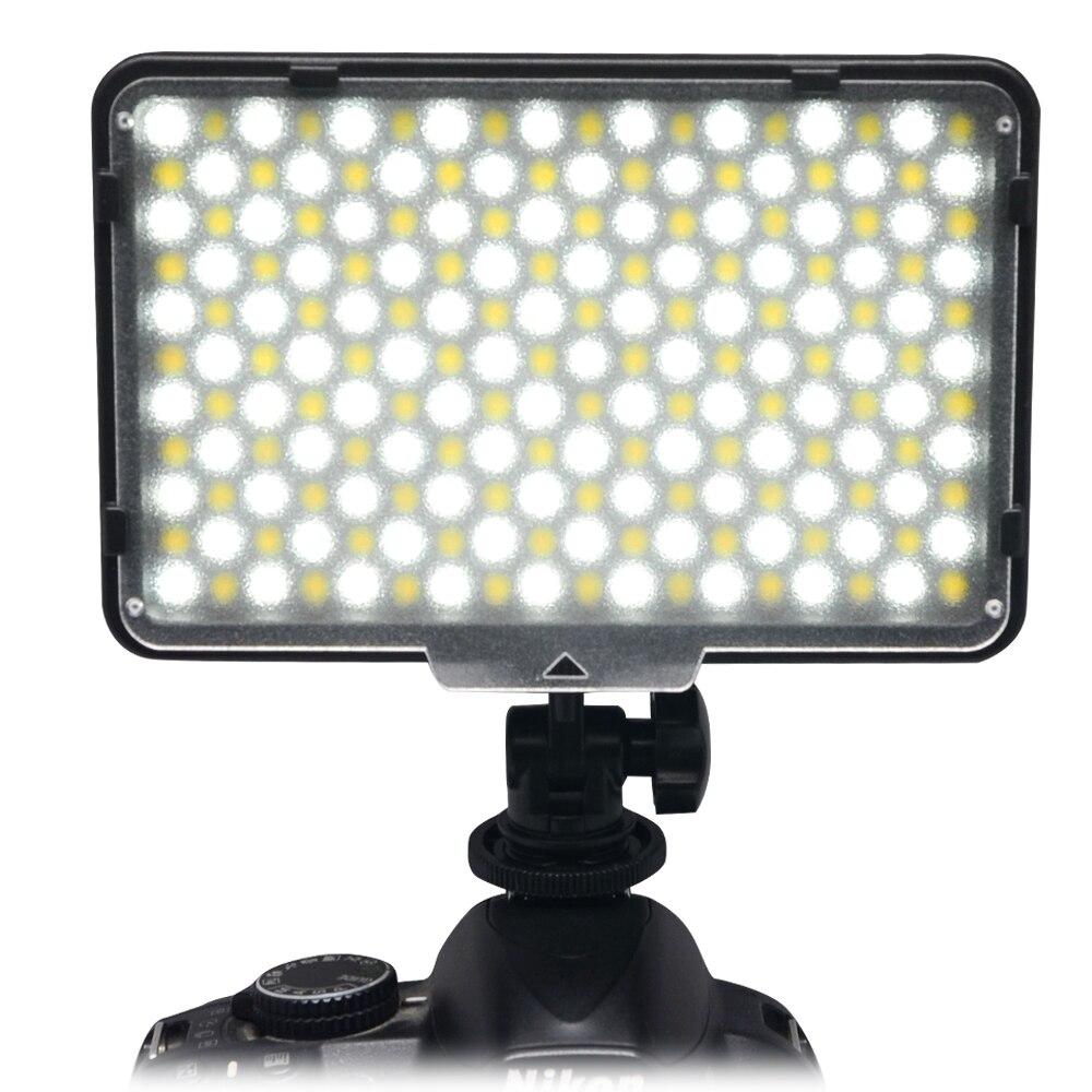 Mcoplus Bi color 198 LED Video Light Lamp 3200K/7500K Color Temperature Adjustment for DV Camcorder & Digital SLR Camera 2pcs mcoplus led 720 bi color led light 720pcs led lamp 3200k 7500k 4700lm video light for canon nikon cameras