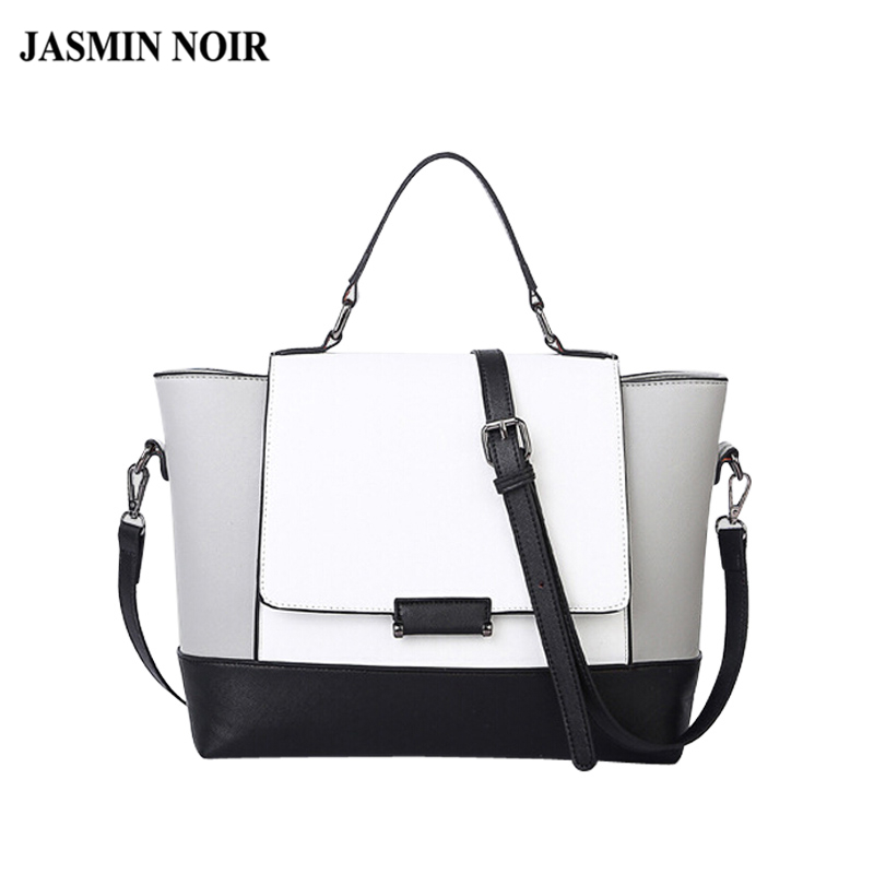 designer handbags high quality black and white bag fashion ladies shoulder trape
