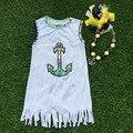 2016 девушки летнее платье 1 - 9 т детские дети якорь платье девушка ацтеков платья с соответствующими луки и колье
