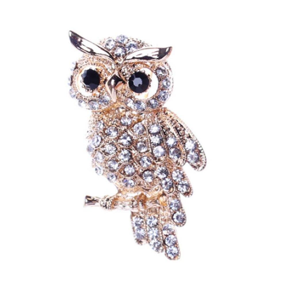Большая Птица Совы Винтаж Броши антиквариат букет owle Булавки до дизайнер замуж Броши шарф Зажимы jewellerys