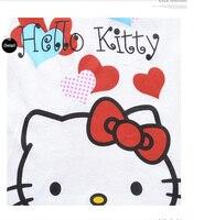 лето новинка детский мультфильм привет котенок футболка 2 шт. комплект одежды костюм дети свободного покроя полный одежды бесплатная доставка