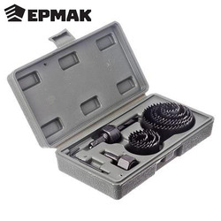 ERMAK DRINK RING SET 19-64mm 12pcs Flat Drill high carbon Steel Long Wood TV set With Drill bit Set Wood Spade Drill bit 649-080