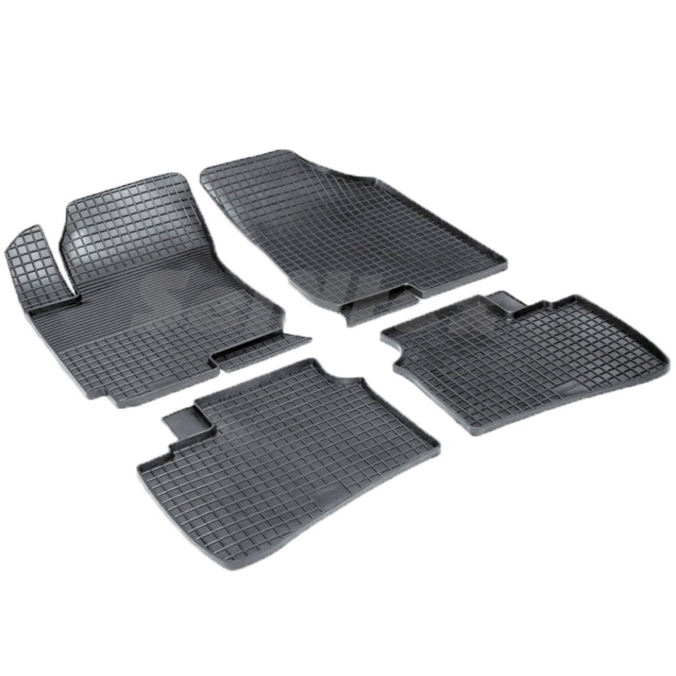 Rubber grid floor mats for Hyundai Elantra HD 2007 2008 2009 2010 Seintex 00335 for honda cbr 1000 rr 2008 2009 2010 2011 motorbike seat cover cbr1000rr motorcycle red fairing rear sear cowl cover