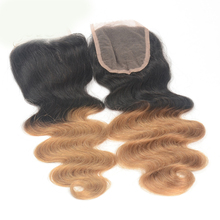 Full Shine 7a Body Wave Lace Closure1B 27 Bleached Knots Free Style Brazilian Remy Hair 4*4 Cheap Price Human Hair Sew in Weave
