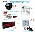 Enfermeira Sistema de Chamada de Emergência LED Receptor sem fio com Botão de Pânico e Relógio de Pulso