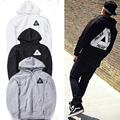 2016 Autumn 1:1 PALACE Skateboards Hoodies Men Cotton Triangle Sweat Hip Hop Palace Sweatshirt Male Tracksuit Long Sleeve Hoodie