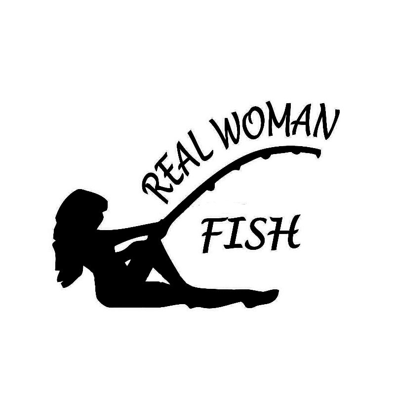 Fishing car sticker sexy beauty real woman fish decals for Fishing car stickers