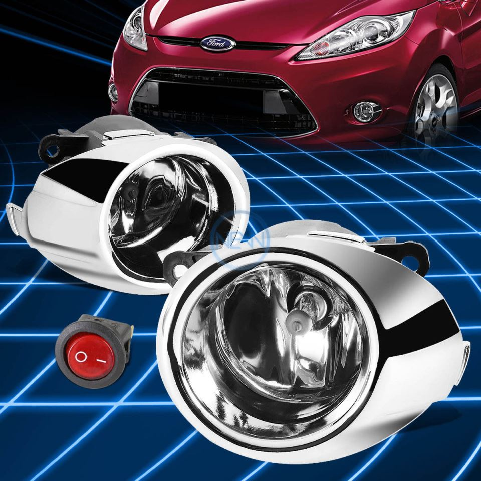 Fog Lights Kit For Ford Fiesta 2009 2012 With Wires And