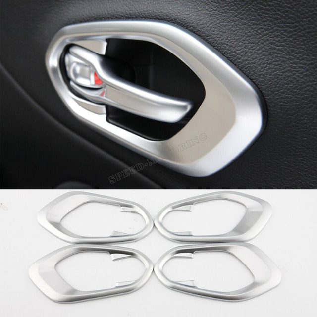 ABS car matt silver painted Insid Interior Inner Handle Bowl Trim Cover fit for JEEP Cherokee 2014 2015 2016 LHD