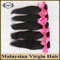 5 unids venta al por mayor armadura malasia del pelo humano 100 g paquetes 8A calidad superior extensiones de cabello Natural recta enreda libremente ningún vertimiento