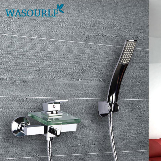 WASOURLF Wall Mounted Bathroom Faucet Bath Tub Mixer Tap With Shower Head