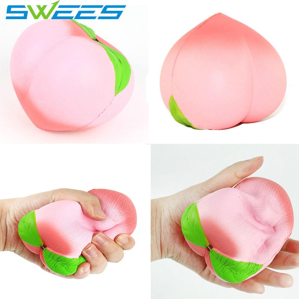 1PCS 11CM Jumbo Kawaii Squishy Slow Rising Peach Pendant Phone Straps Charms Queeze Kid Toys