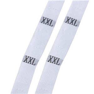 """DoreenBeads размер этикетки одежда тканые бирки XS-2XL белый черный 32 мм(1 2/"""") x 12 мм(4/8"""") 1 рулон(около 400 шт - Цвет: white XXL"""