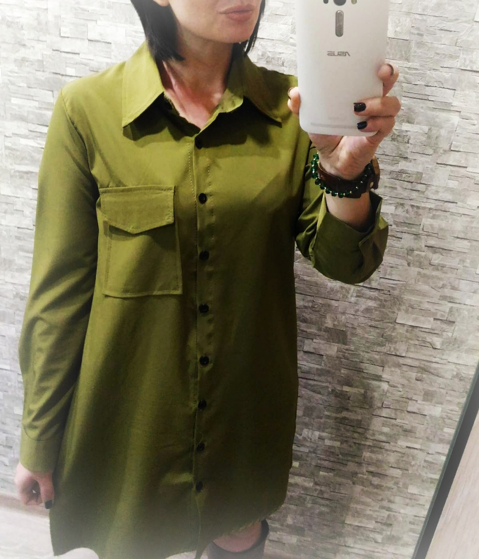 ГИМНАСТЁРКА))?? Нет, платье рубашка в стиле милитари