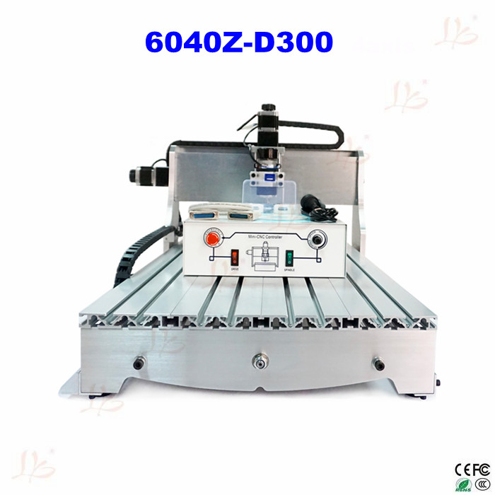 Free shipping cheap hobby CNC 6040Z-D300 6040  Router Engraver/Engraving Drilling and Milling Machine eur free tax cnc 6040z frame of engraving and milling machine for diy cnc router