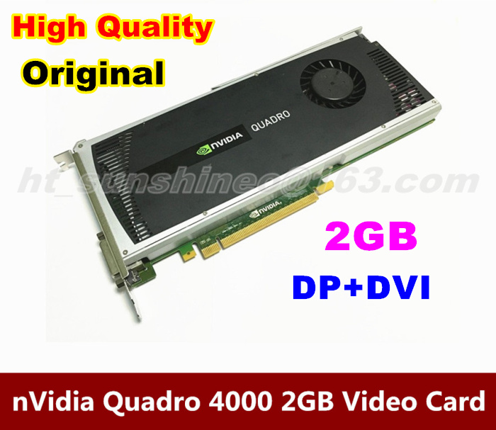 Free shipping by DHL/Fedex  Original nVidia Quadro 4000 2GB DDR5 DVI+DP Graphics Video Card  For Mac Pro 2008-2012