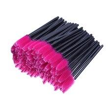 100 Pcs Disposable Min Eyelash Brush Women Makeup Tool Mascara Wands Applicator