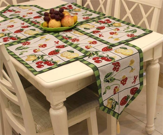 European Style Polyester Amp Cotton Floral Table Runner