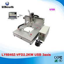metal carving machine desktop CNC Router 6040 3 Axis 2.2KW VFD water cooled spindle cnc machine