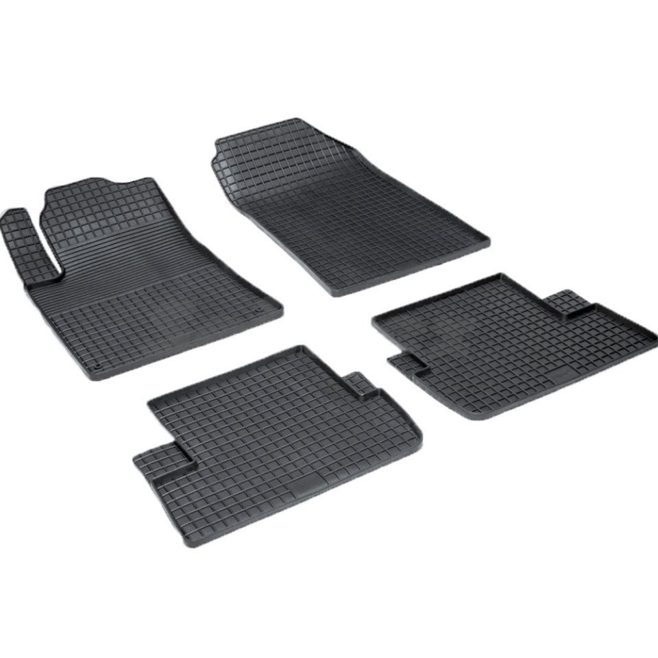 Rubber grid floor mats for Peugeot 407 2004 2005 2006 2007 2008 2009 2010 Seintex 00516 for honda cbr 1000 rr 2008 2009 2010 2011 motorbike seat cover cbr1000rr motorcycle red fairing rear sear cowl cover