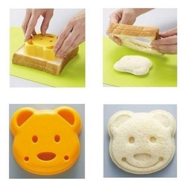 Cute Yellow Bear Beard Sandwich Mold Cake Pastry From Fondant Molds Cake Decorating Tools Kitchen Accessories
