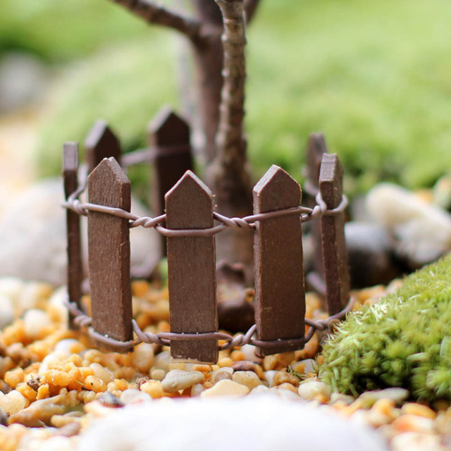 Mini Fence Miniature Garden Bonsai Decoration