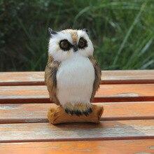 Hot Sale Synthetic Fur Covered Plastic Fur Toy Lifelike Owl Figurine