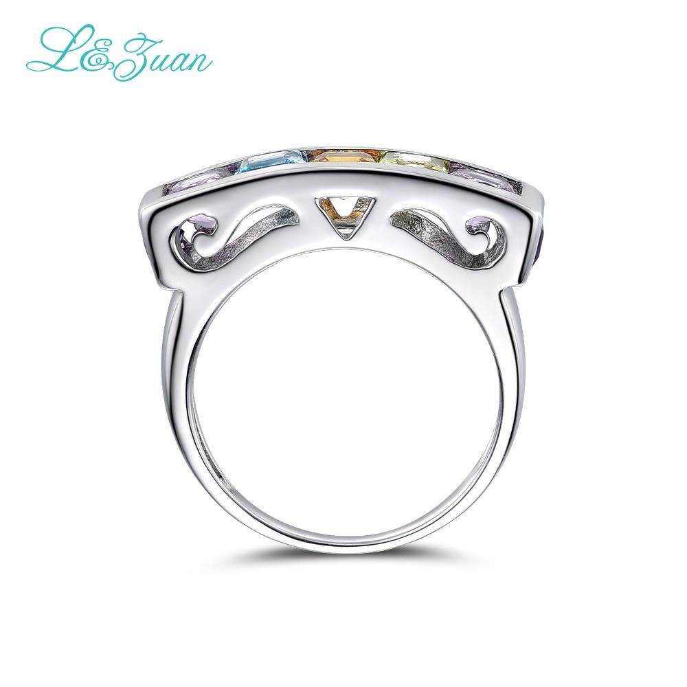 I & Zuan Edlen Schmuck 925 Sterling Silber Ring Natürlichen Amethyst - Edlen Schmuck - Foto 3