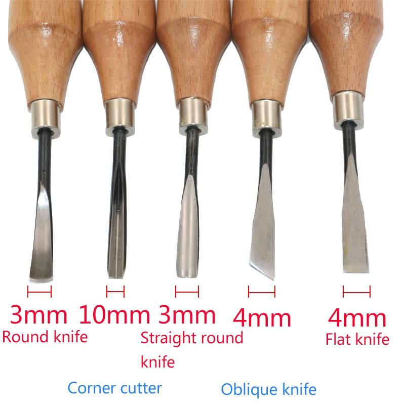 QSTEXPRESS 5бр / лот нож за дърворезба / ъгъл - Ръчни инструменти - Снимка 3
