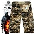2016 Nuevos hombres de la marca casual de camuflaje carga suelta bombardero cortos los hombres de gran tamaño multibolsillos militar pantalones cortos overoles 29-42