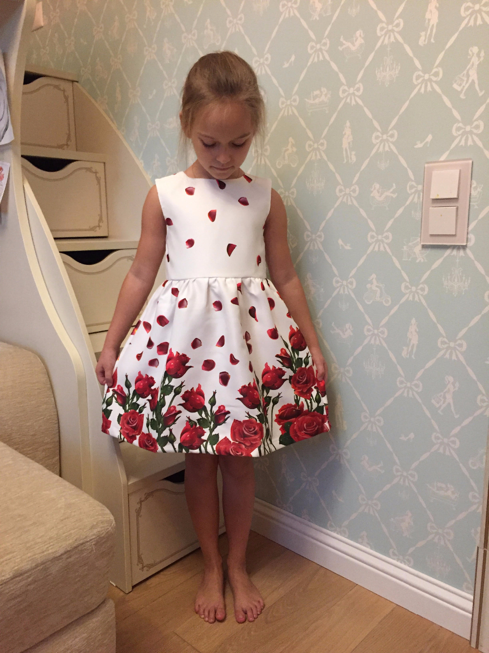 Bear Leader Girls Dress Children Clothing 2016 Brand Princess Dress Girl Clothes Sleeveless Floral Kids Dress for Girls Costumes