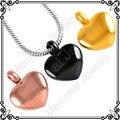 MJD8078 PVD aço Inoxidável pequeno coração elegante charme jóias para as cinzas da cremação urn memorial para animais de estimação da família (apenas pendant)