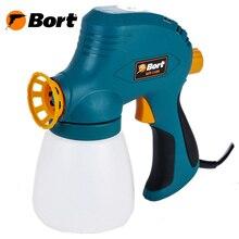 Распылитель электрический Bort BFP-110N (регулировка подачи краски, легкосъёмный бачок)