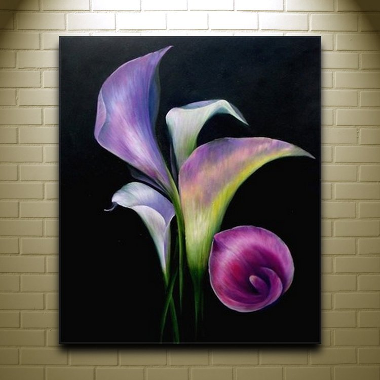 Beautiful Flower Oil Painting Modern Art Canvas Abstract Music Wall Kitchen Decor Home Decoration Items In Calligraphy From