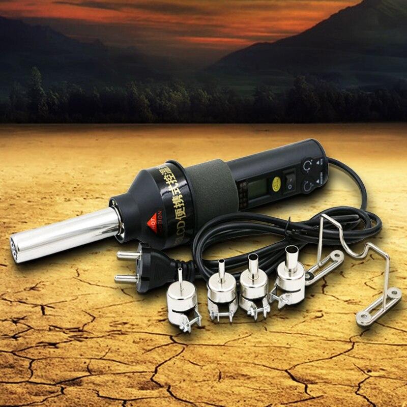 AC 220 V 450 degrés Celsius 450 W LCD poste à souder Air chaud pistolet ICs pour buse BGA