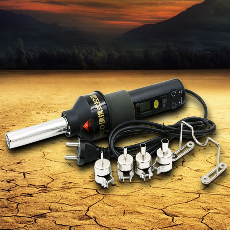 AC 220V 450 degree Celsius 450W LCD Soldering Station Hot Air Gun ICs For BGA Nozzle