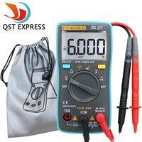 QST101 Digital Multimeter 6000 Counts Backlight AC DC Ammeter Voltmeter Ohm Portable Meter