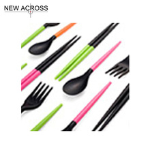 Gohide Plastic Fork Chopsticks Sets Random color Eco-Friendly – Cutlery Function Chopsticks Set Fork Chopsticks Kit Tableware