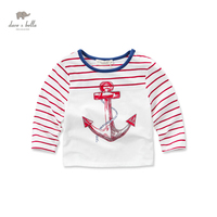 DB3428 Dave Bella Spring Baby Boy Cotton Sailor T Shirt Infant Clothes Toddle T Shirt Boys