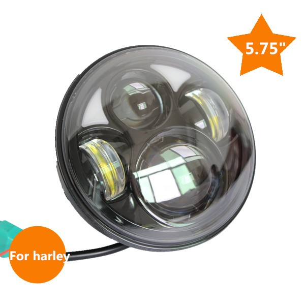 New arrival 5.75led headlight with High/Low Black / Sliver 5-3/4 daymarker for Harley Motorcycle headlights 5 3 4 led headlight for triumph rocket iii 3