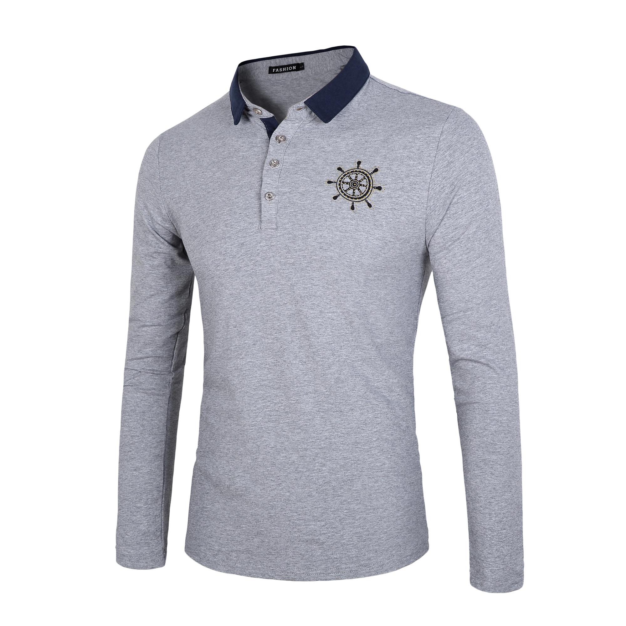 Shirt design for man 2016 - 2016 Famous Brand Polo Men Logo Designer Polo Shirts Pure Color Leisure Cotton Polo Homme Man