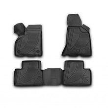 3D коврики для Lada Priora (2010-2017) полиуретан (Novline-Autofamily F120250E1)